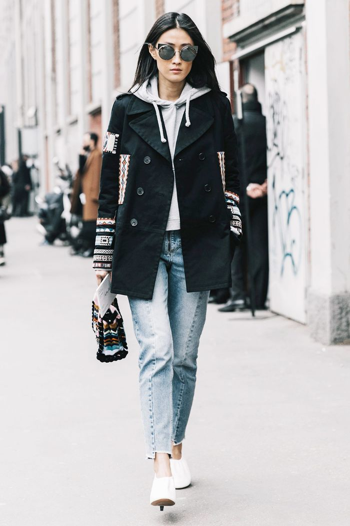 blue-light-skinny-jeans-grayl-sweater-hoodie-black-jacket-coat-peacoat-sun-brun-white-shoe-booties-fall-winter-thanksgiving-outfits-holidays-weekend.jpg
