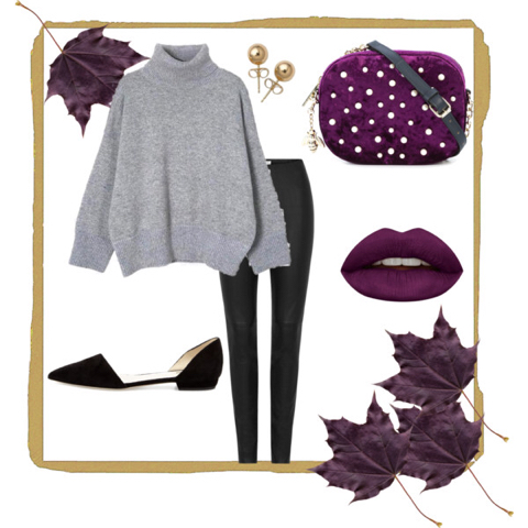 black-leggings-grayl-sweater-purple-bag-studs-pearl-black-shoe-flats-turtleneck-fall-winter-thanksgiving-outfits-holidays-lunch.jpg