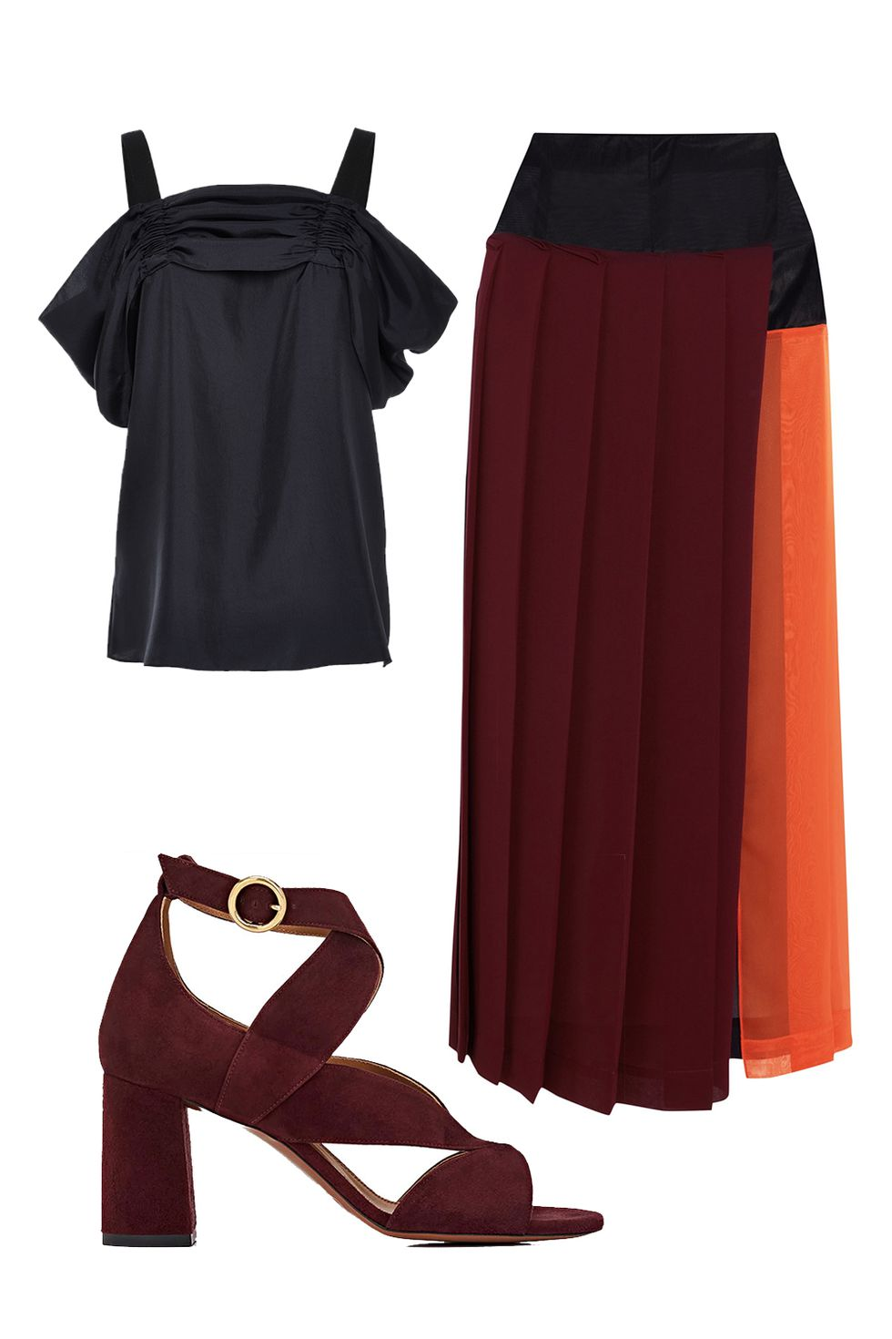 burgundy-midi-skirt-pleated-burgundy-shoe-sandalh-black-top-offshoulder-colorblock-fall-winter-thanksgiving-outfits-holidays-dinner.jpg