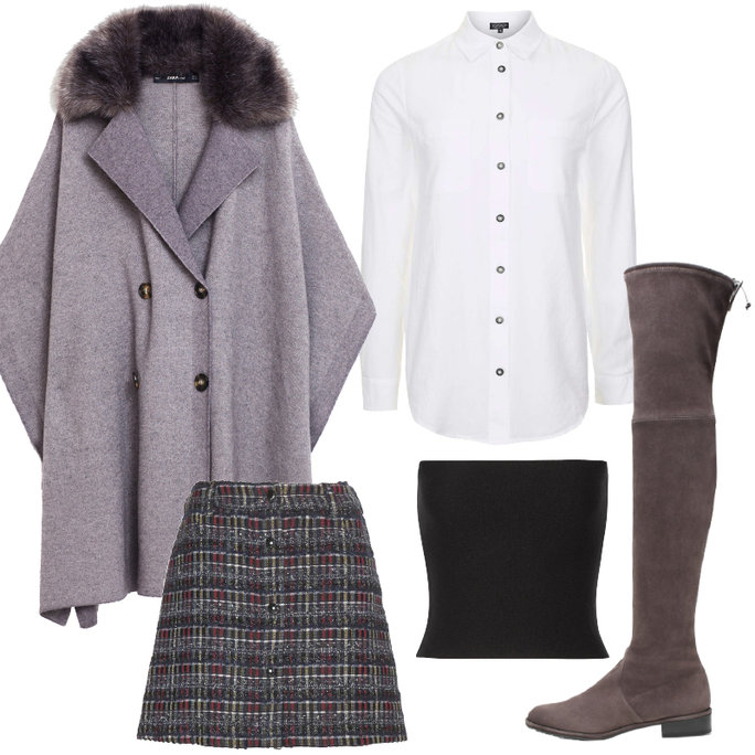 grayd-mini-skirt-plaid-white-collared-shirt-black-top-crop-gray-shoe-boots-otk-grayl-jacket-coat-cape-fall-winter-thanksgiving-outfits-wearcroptopovershirt-dinner.jpg