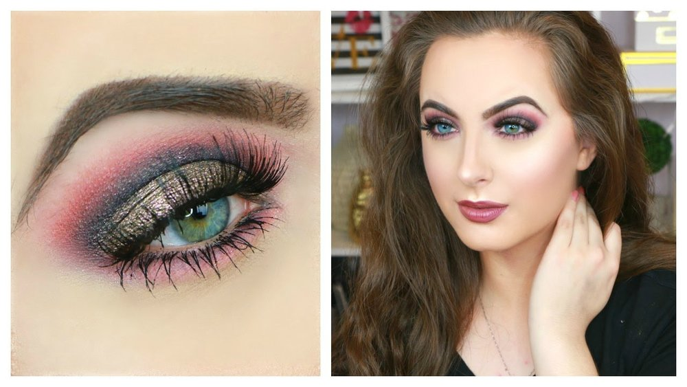 makeup-for-thanksgiving-fall-autumn-warm-colors-blue-eyes-pink-glitter-ombre-eyeshadow.jpg