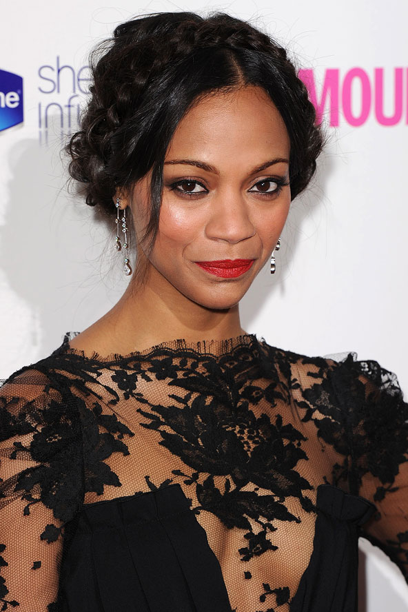 hair-styles-what-to-wear-christmas-day-dinner-holiday-outfits-winter-zoesaldana-milkmaid-braid-elegant-party.jpg