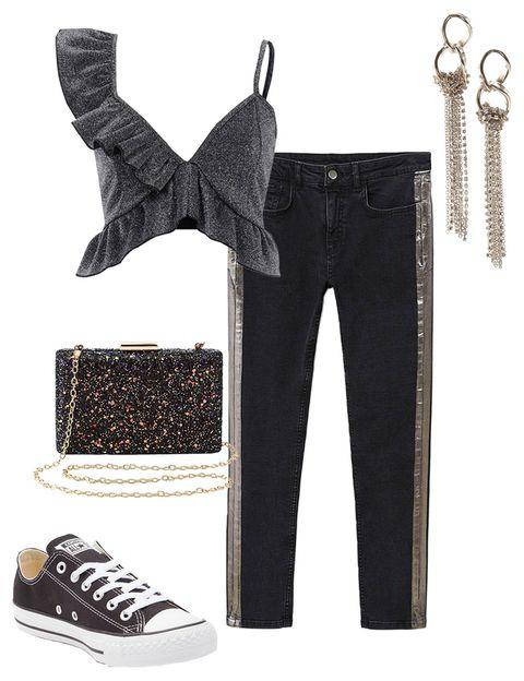 black-skinny-jeans-tuxedo-black-crop-top-ruffle-black-shoe-sneakers-earrings-monochromatic-fall-winter-nye-party-dinner.jpg