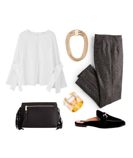 grayd-slim-pants-tweed-necklace-black-shoe-loafers-slides-white-blouse-black-bag-fall-winter-nye-dinner.jpg