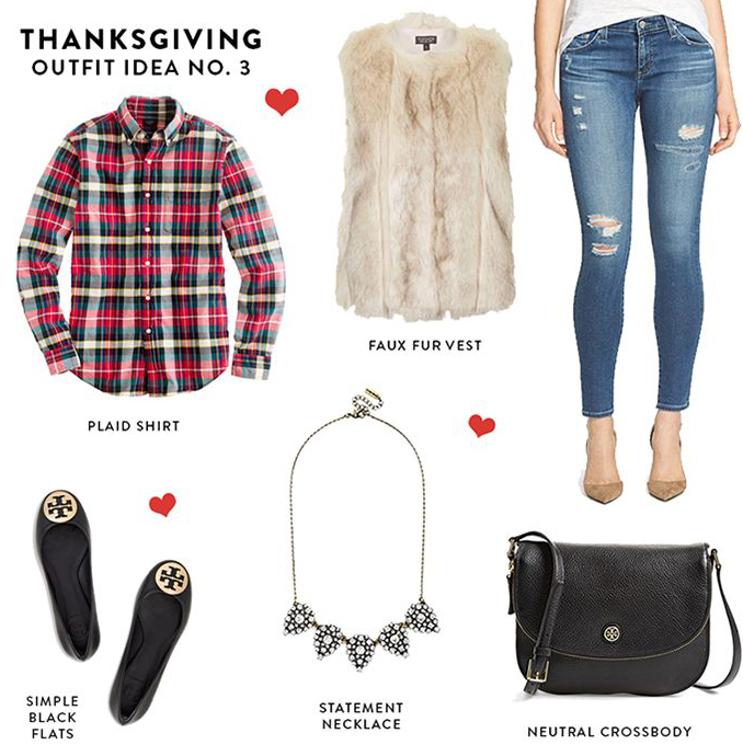 blue-med-skinny-jeans-red-plaid-shirt-white-vest-fur-necklace-black-shoe-flats-black-bag-thanksgiving-holidays-howtowear-fashion-style-outfit-fall-winter-lunch.jpg