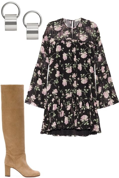 thanksgiving-black-dress-peasant-floral-print-earrings-tan-shoe-boots-fall-winter-dinner.jpg