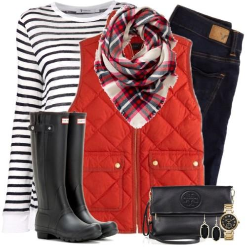 blue-navy-skinny-jeans-black-tee-stripe-red-scarf-howtowear-fashion-style-outfit-fall-winter-red-vest-puffer-plaid-black-shoe-boots-black-bag-watch-earrings-watch-christmas-weekend.jpg
