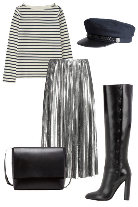 grayl-midi-skirt-black-tee-stripe-hat-black-shoe-boots-black-bag-howtowear-fashion-style-outfit-fall-winter-holiday-pleat-lunch.jpg