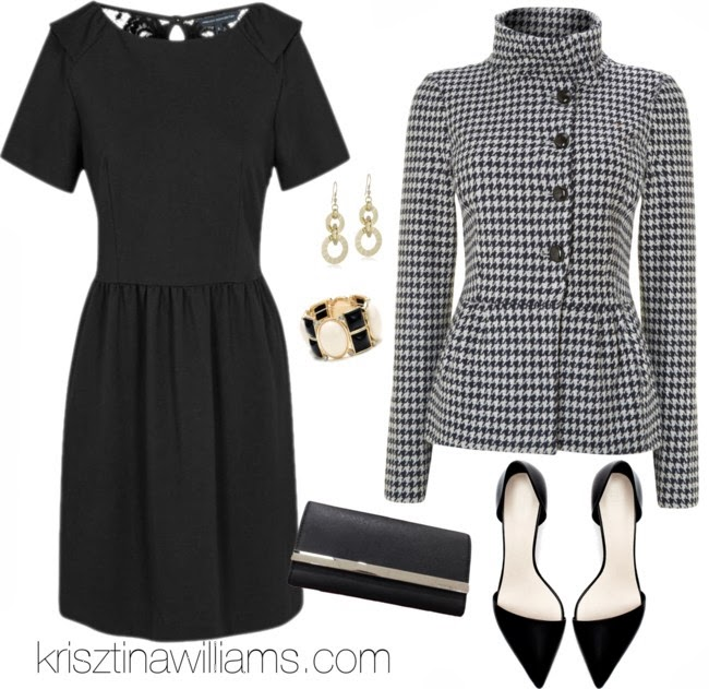 black-dress-mini-bracelet-earrings-black-jacket-houndstooth-black-shoe-pumps-black-bag-clutch-howtowear-fashion-style-outfit-fall-winter-holiday-officeparty-work-dinner.jpg
