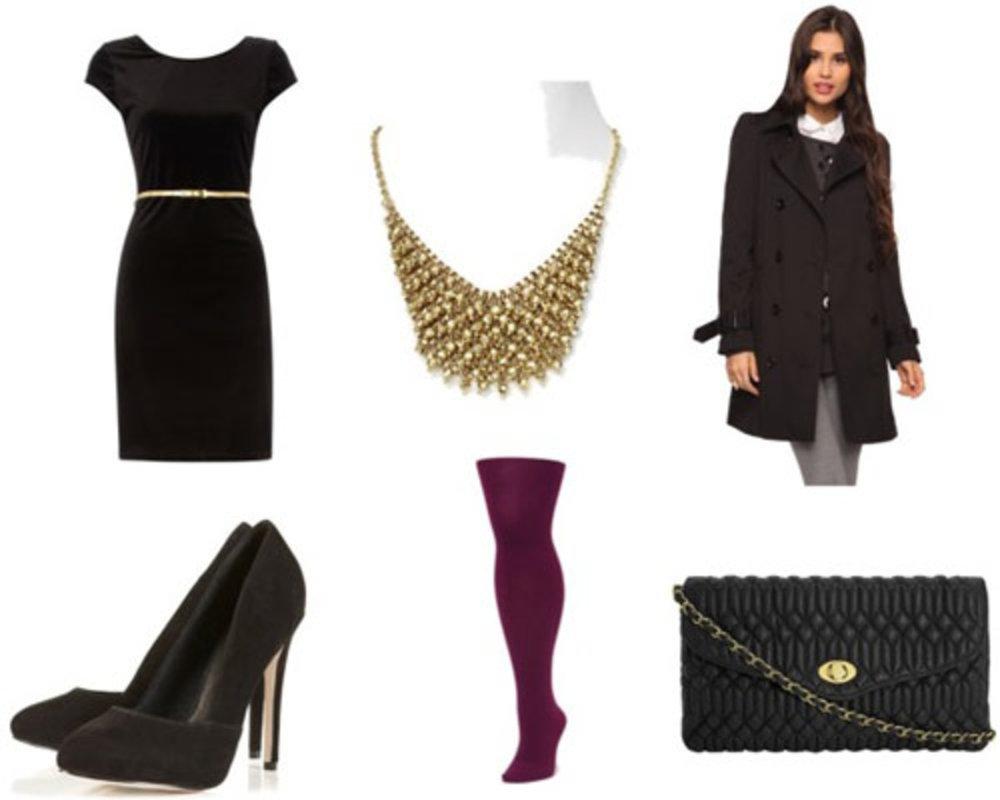 black-dress-shift-burgundy-tights-black-bag-black-shoe-pumps-bib-necklace-holiday-party-black-jacket-coat-peacoat-fall-winter-dinner.jpg