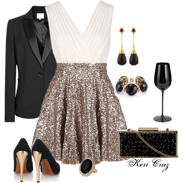 tan-mini-skirt-gold-white-cami-black-jacket-blazer-black-shoe-pumps-earrings-bracelet-black-bag-ring-party-holiday-fall-winter-nye-dinner.jpg