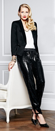 black-joggers-pants-sequin-white-top-black-jacket-blazer-bracelet-black-shoe-pumps-blonde-whitehouseblackmarket-holiday-howtowear-fashion-style-outfit-fall-winter-dinner.jpg