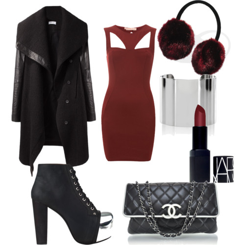 r-burgundy-dress-black-jacket-coat-black-shoe-booties-black-bag-howtowear-fashion-style-outfit-fall-winter-bodycon-bandage-basic-earmuffs-holidays-dinner.jpeg