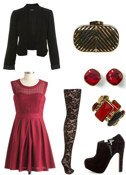 red-dress-aline-black-jacket-crop-black-tights-black-shoe-booties-bracelet-studs-tan-bag-clutch-howtowear-fashion-style-outfit-fall-winter-holiday-dinner.jpg