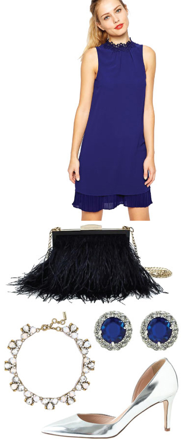 blue-navy-dress-swing-blue-bag-studs-gray-shoe-pumps-metallic-necklace-fringe-howtowear-fashion-style-outfit-fall-winter-holiday-dinner.jpg