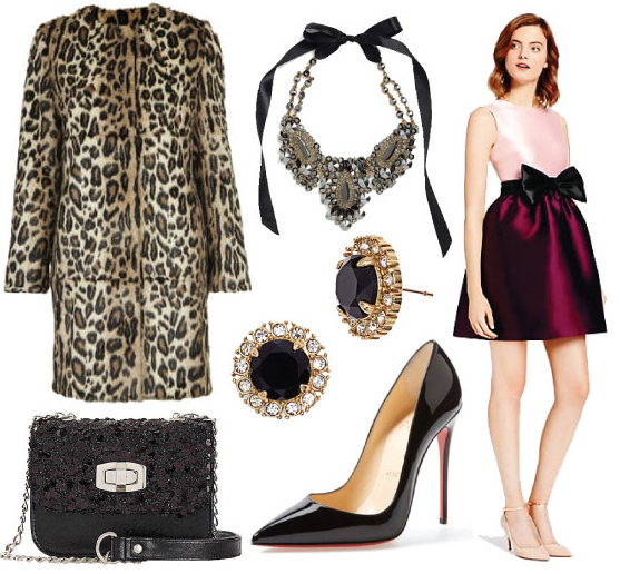 r-burgundy-dress-mini-tan-jacket-coat-print-leopard-studs-black-shoe-pumps-bib-necklace-black-bag-howtowear-fashion-style-outfit-fall-winter-holiday-dinner.jpg