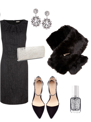 black-dress-shift-lbd-black-scarf-stole-gray-bag-clutch-black-shoe-pumps-earrings-nail-howtowear-fashion-style-outfit-fall-winter-holiday-dinner.jpg