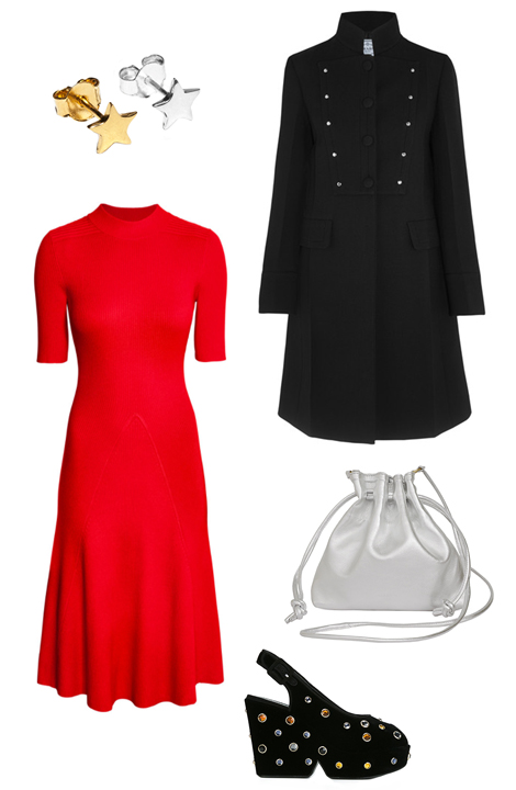 red-dress-black-jacket-coat-aline-white-bag-studs-black-shoe-sandalw-howtowear-fashion-style-outfit-fall-winter-holiday-dinner.jpg