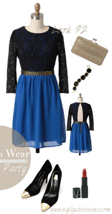blue-med-dress-mini-black-shoe-pumps-bracelet-tan-bag-clutch-howtowear-fashion-style-outfit-fall-winter-holiday-party-dinner.jpg