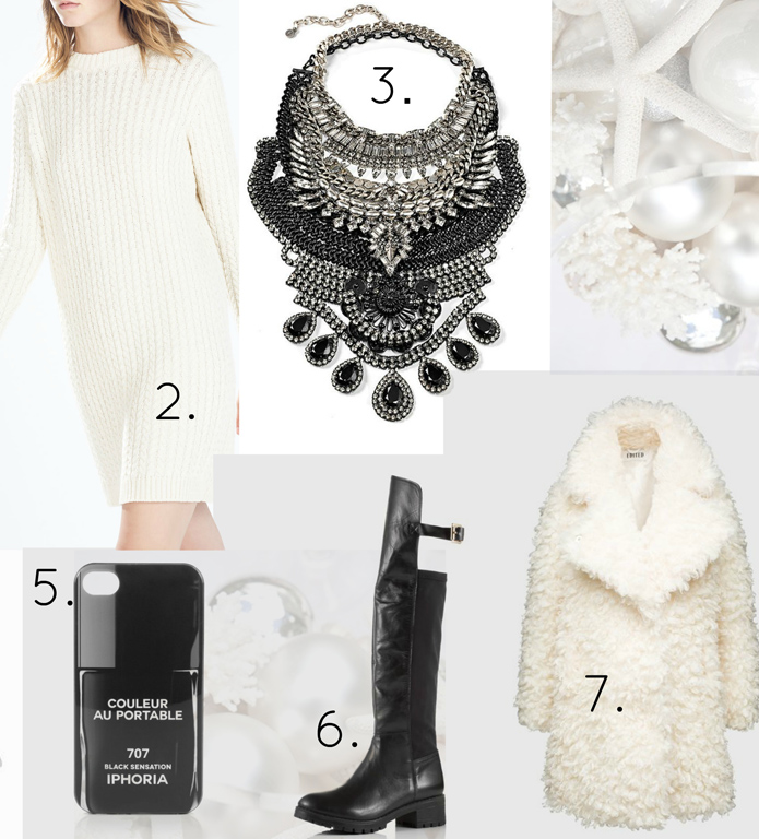 white-dress-sweater-bib-necklace-nail-black-shoe-boots-white-jacket-coat-fur-fuzz-howtowear-fashion-style-outfit-fall-winter-holiday-christmaseve-dinner.jpg