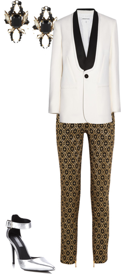 o-tan-slim-pants-print-white-jacket-blazer-tuxedo-gray-shoe-pumps-metallic-earrings-howtowear-fashion-style-outfit-fall-winter-holiday-officeparty-dinner.jpg