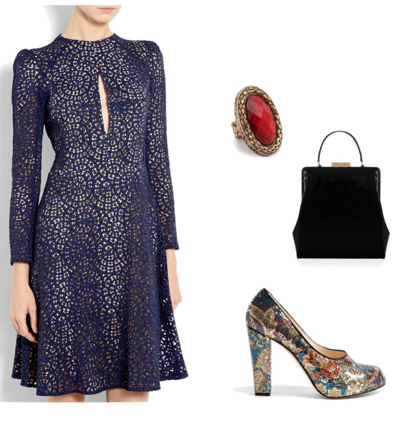 blue-navy-dress-aline-black-bag-ring-tan-shoe-pumps-metallic-howtowear-fashion-style-outfit-fall-winter-holiday-officeparty-dinner.jpg