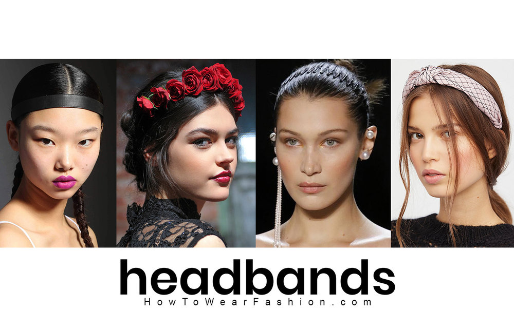 How to wear headbands - great ideas for wearing hair accessories!