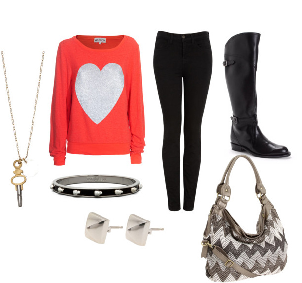 black-skinny-jeans-orange-sweater-sweatshirt-graphic-black-shoe-boots-studs-gray-bag-howtowear-valentinesday-outfit-fall-winter-weekend.jpg