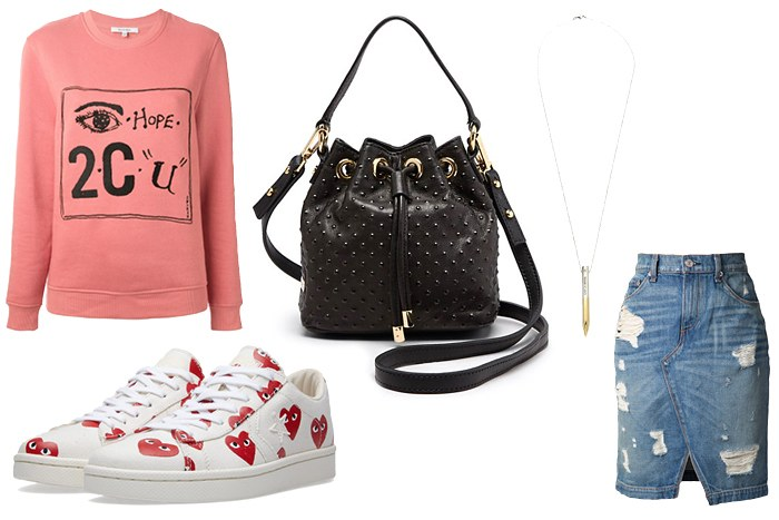 blue-med-pencil-skirt-pink-light-sweater-sweatshirt-graphic-black-bag-white-shoe-sneakers-heart-print-howtowear-valentinesday-outfit-fall-winter-lunch.jpg