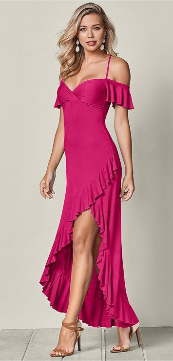 pink-magenta-dress-maxi-earrings-cognac-shoe-sandalh-howtowear-valentinesday-outfit-fall-winter-dinner-blonde.jpg