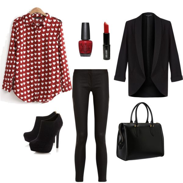 black-skinny-jeans-red-top-blouse-heart-print-black-jacket-blazer-black-shoe-booties-black-bag-nail-howtowear-valentinesday-outfit-fall-winter-dinner.jpg