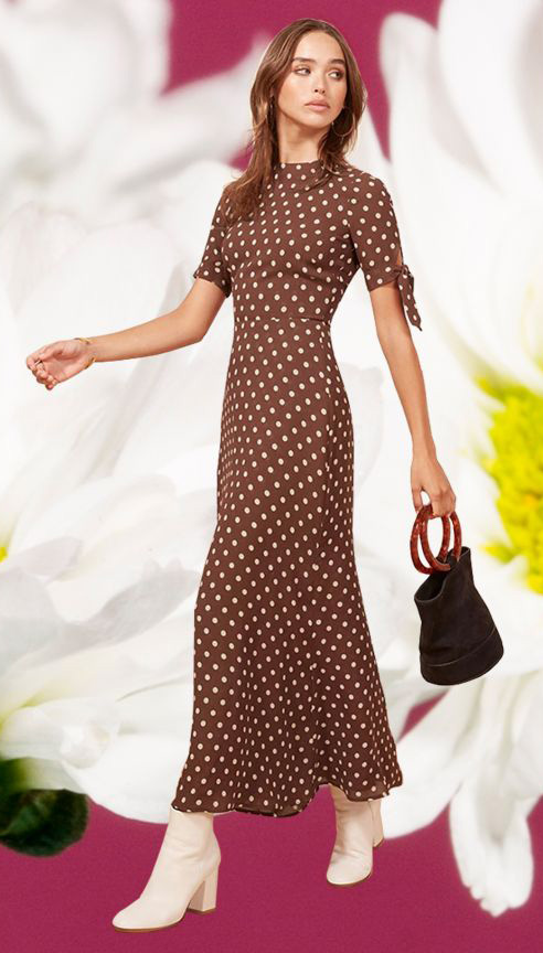brown-dress-maxi-polkadot-print-hairr-black-bag-white-shoe-boots-midi-howtowear-valentinesday-outfit-fall-winter-dinner.jpg