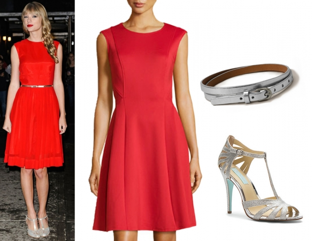 red-dress-aline-belt-gray-shoe-sandalh-silver-taylorswift-howtowear-valentinesday-outfit-fall-winter-dinner.jpg