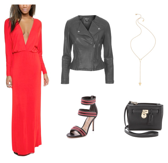red-dress-maxi-black-shoe-sandalh-black-jacket-moto-black-bag-necklace-howtowear-valentinesday-outfit-fall-winter-dinner.jpg