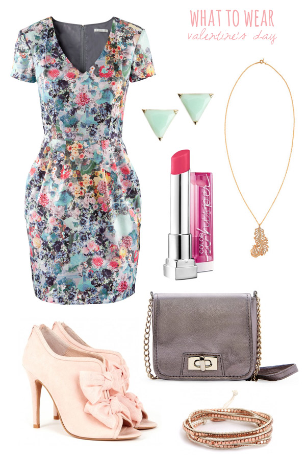 blue-light-dress-mini-print-pink-shoe-booties-gray-bag-studs-howtowear-valentinesday-outfit-fall-winter-dinner.jpg