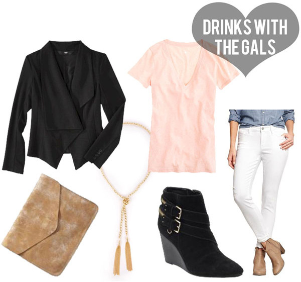 white-skinny-jeans-peach-tee-black-jacket-drape-black-shoe-booties-tan-bag-clutch-necklace-howtowear-valentinesday-outfit-fall-winter-dinner.jpg