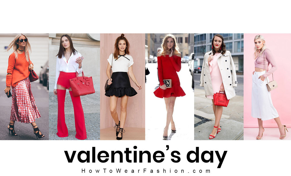 Valentine's Day outfit ideas - see how to style your romantic outfit, makeup and hair for the holiday!