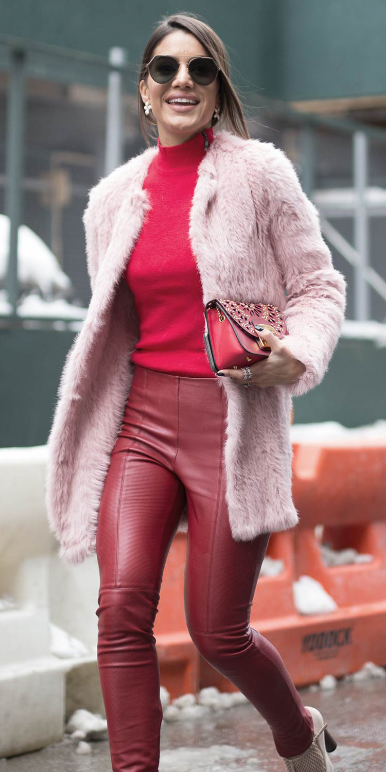 red-skinny-jeans-leather-red-sweater-tonal-red-bag-sun-valentinesday-pink-light-jacket-coat-fur-fuzz-fall-winter-hairr-lunch.jpg