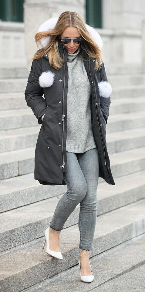 grayl-skinny-jeans-white-shoe-pumps-blonde-grayl-sweater-turtleneck-tonal-grayd-jacket-coat-parka-fall-winter-outfit-lunch.jpg