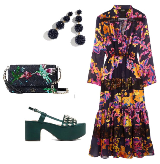 what-to-wear-for-a-summer-wedding-guest-outfit-country-black-dress-peasant-print-black-bag-green-shoe-sandalw-earrings-dinner.jpg