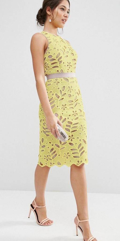 what-to-wear-for-a-summer-wedding-guest-outfit-yellow-dress-eyelet-shift-brun-bun-dinner.jpg