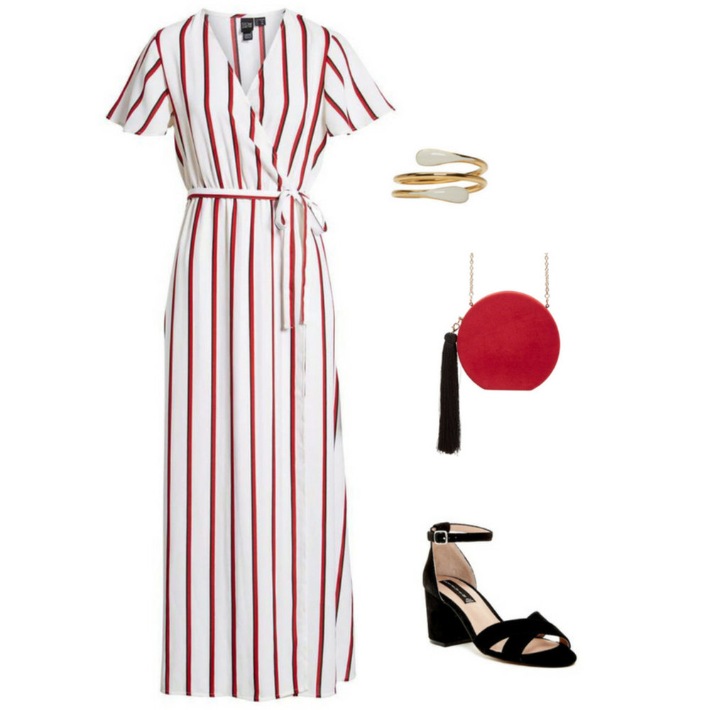 what-to-wear-for-a-summer-wedding-guest-outfit-church-white-dress-wrap-vertical-stripe-red-bag-black-shoe-sandalh-ring-dinner.jpg