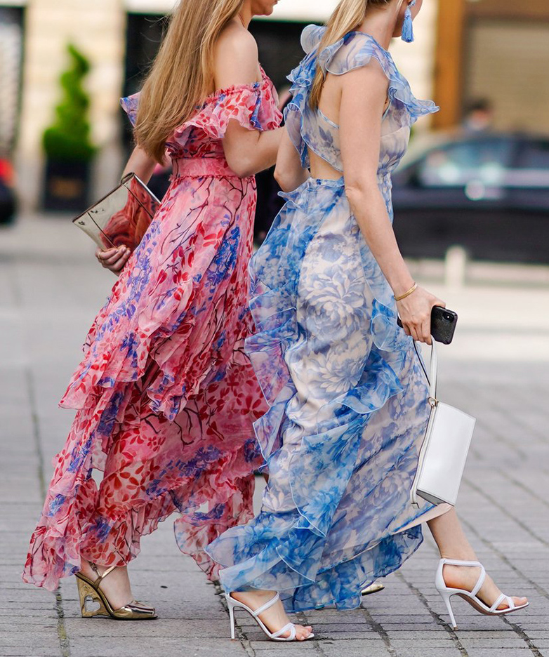 what-to-wear-for-a-summer-wedding-guest-outfit-blue-light-dress-maxi-sheer-ruffle-white-bag-clutch-white-shoe-sandalh-blonde-dinner.jpg