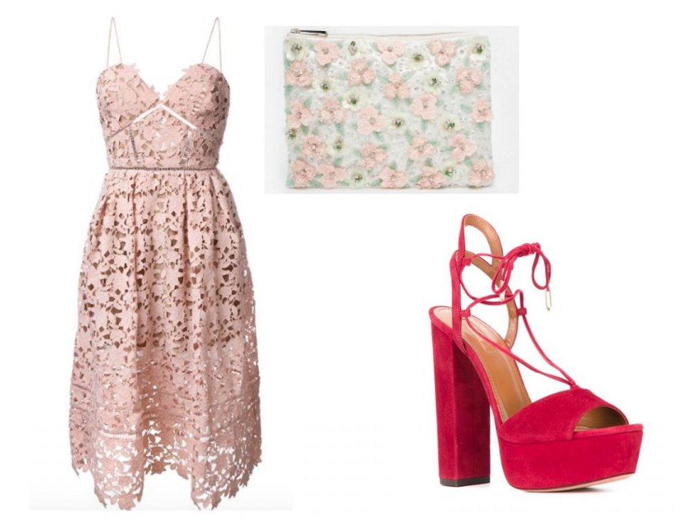 what-to-wear-for-a-summer-wedding-guest-outfit-pink-light-dress-aline-lace-pink-shoe-sandalh-pink-bag-clutch-floral-print-dinner.jpg