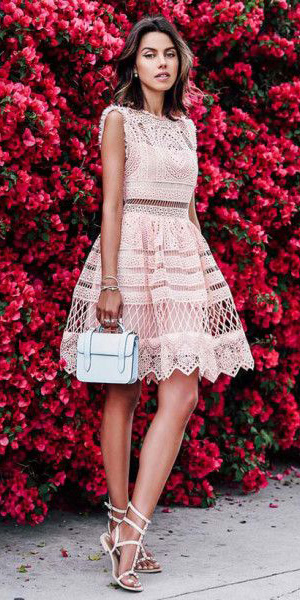 what-to-wear-for-a-summer-wedding-guest-outfit-pink-light-dress-aline-lace-sheer-white-shoe-sandals-dinner.jpg