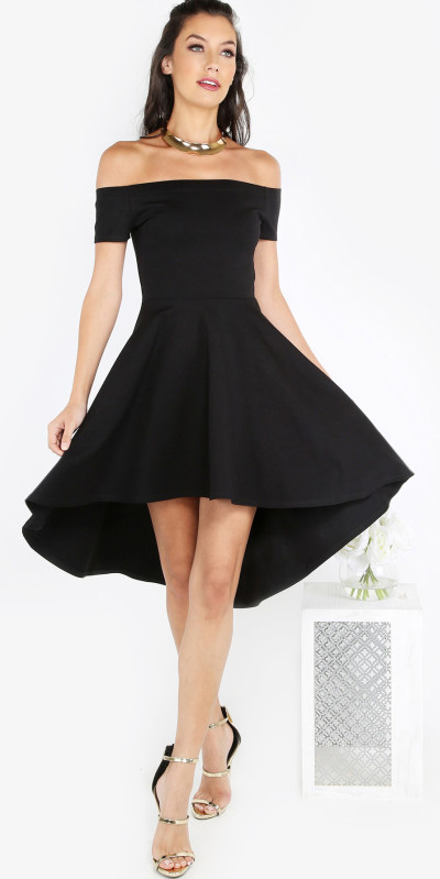 what-to-wear-for-a-summer-wedding-guest-outfit-black-dress-aline-offshoulder-hairr-necklace-collar-lbd-dinner.jpg