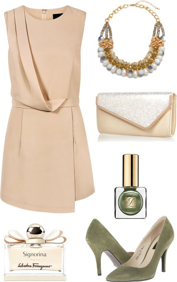 what-to-wear-for-a-fall-wedding-guest-outfit-autumn-tan-dress-mini-green-shoe-pumps-bib-necklace-nail-dinner.jpg