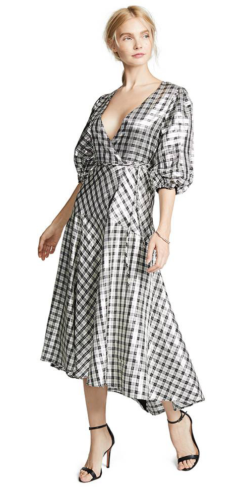 what-to-wear-for-a-fall-wedding-guest-outfit-autumn-white-dress-midi-plaid-print-wrap-blonde-pony-black-shoe-sandalh-dinner.jpg