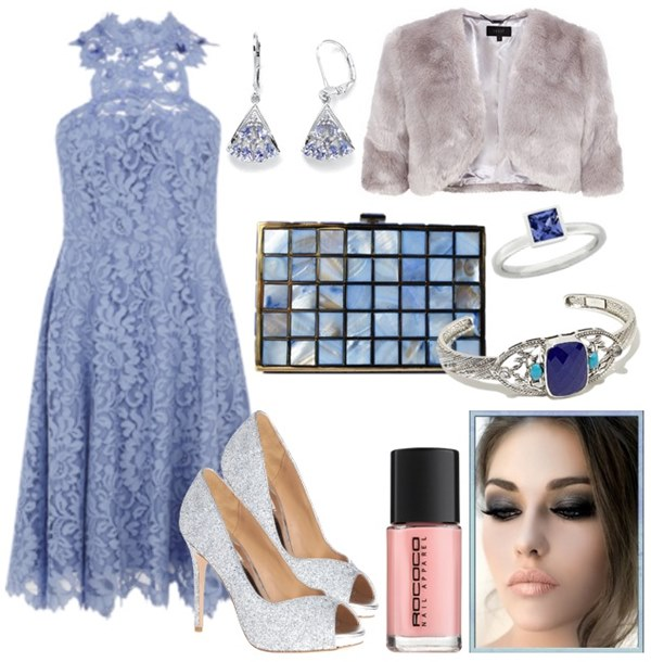 what-to-wear-for-a-fall-wedding-guest-outfit-autumn-blue-light-dress-aline-lace-blue-bag-clutch-nail-earrings-bracelet-grayl-jacket-coat-fur-dinner.jpg