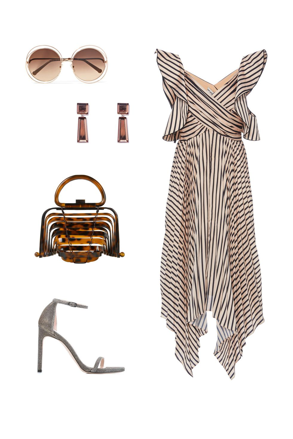 what-to-wear-for-a-fall-wedding-guest-outfit-autumn-on-the-dock-tan-dress-midi-stripe-brown-bag-earrings-sun-dinner.jpg